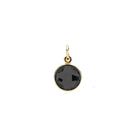 Prima Donna Black onyx pendant from Izabel Camille in Goldplated-Silver Sterling 925