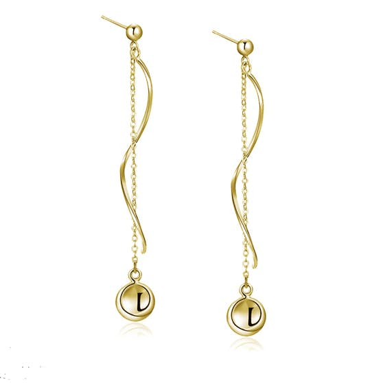 Anne earrings von A-Hjort in Vergoldet-Silber Sterling 925