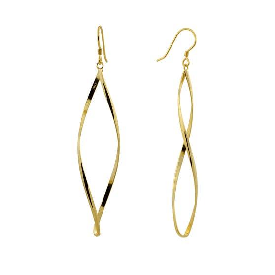 Anne Twisted earrings från A-Hjort i Förgyllt-Silver Sterling 925