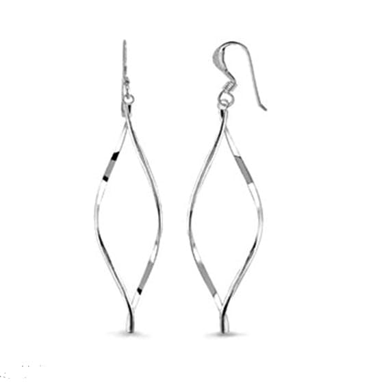Anne Twisted earrings fra A-Hjort i Sølv Sterling 925