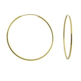 A-Hjort Large hoops fra A-Hjort i Forgylt-Sølv Sterling 925