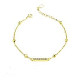 Anne bracelet w. Zircons