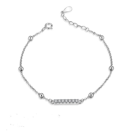 Anne bracelet w. Zircons von A-Hjort in Silber Sterling 925|Blank