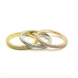 3 set Crystal mix rings