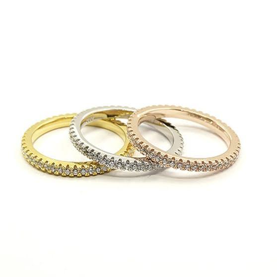 3 set Crystal mix rings