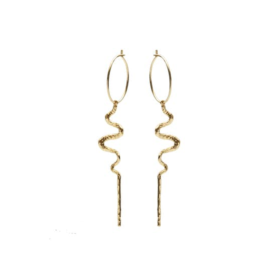 Mia creols from Maanesten in Goldplated-Silver Sterling 925