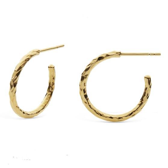 Ina Big earrings von Maanesten in Vergoldet-Silber Sterling 925
