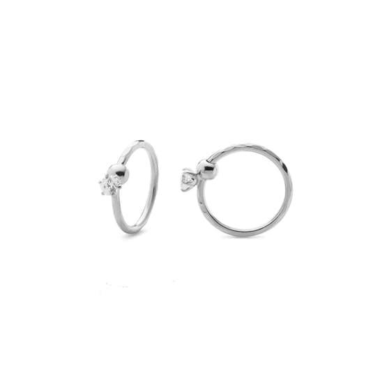 Lela 1 Stone earrings fra Maanesten i Sølv Sterling 925