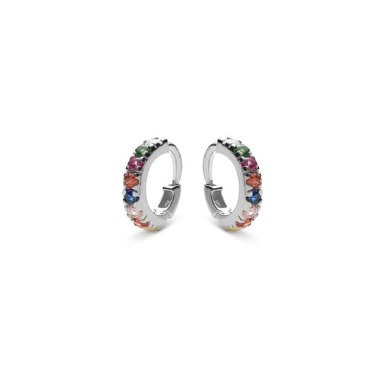 Nubia Colour creols from Maanesten in Silver Sterling 925