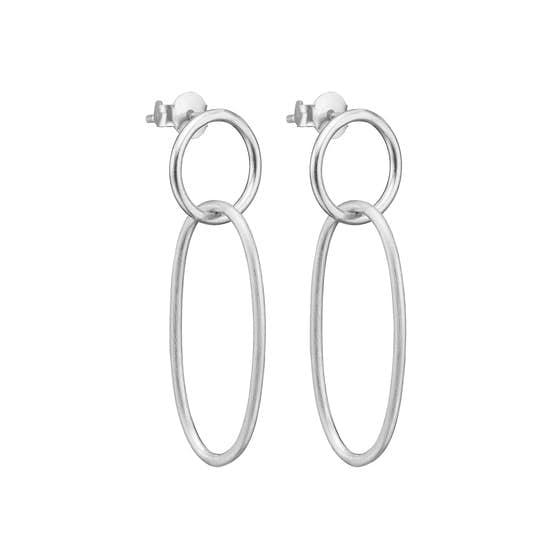 Unity earrings von Enamel Copenhagen in Silber Sterling 925