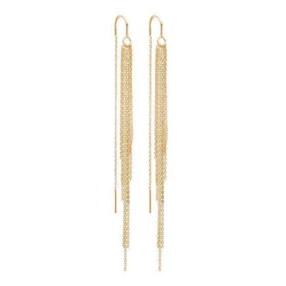Waterfall earrings von Enamel Copenhagen in Vergoldet-Silber Sterling 925