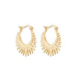 Sunrays earrings von Enamel Copenhagen in Vergoldet-Silber Sterling 925