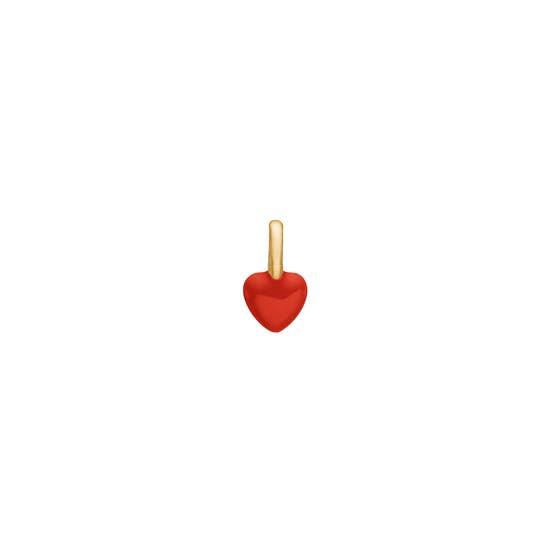Heart enamel charm fra Enamel Copenhagen i Forgylt-Sølv Sterling 925