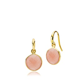 Prima Donna earrings peach von Izabel Camille in Vergoldet-Silber Sterling 925