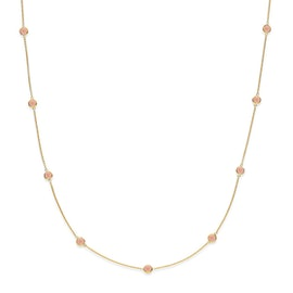 Prima Donna necklace Peach moonstone