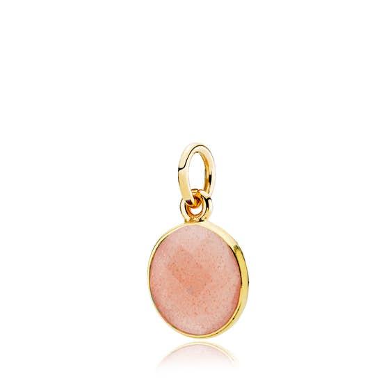 Prima Donna Pendant Peach Moonstone fra Izabel Camille i Forgyldt-Sølv Sterling 925