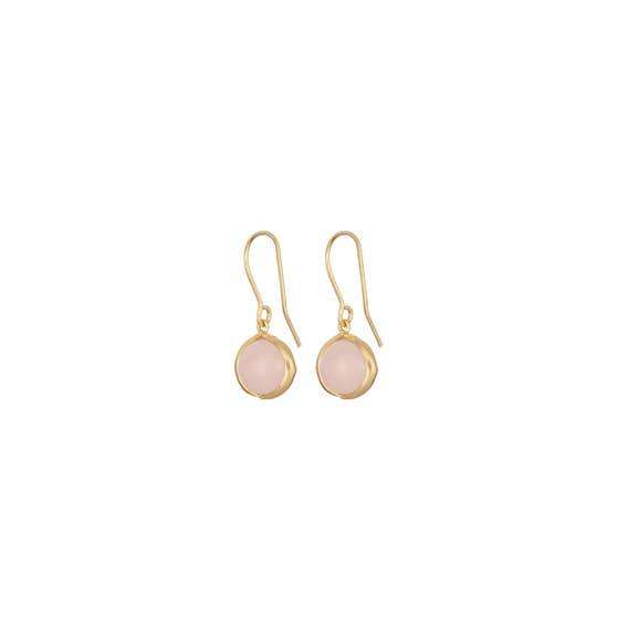 Aura Rose earhooks fra Pernille Corydon i Forgylt-Sølv Sterling 925