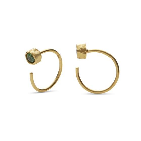 Mesa Green earrings von Maanesten in Vergoldet-Silber Sterling 925