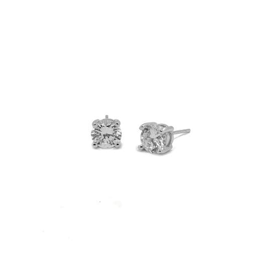 Anne Zircon earsticks fra A-Hjort i Sølv Sterling 925