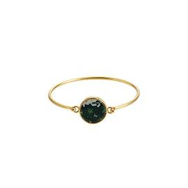 Marble bracelet Moss green Round bracelet