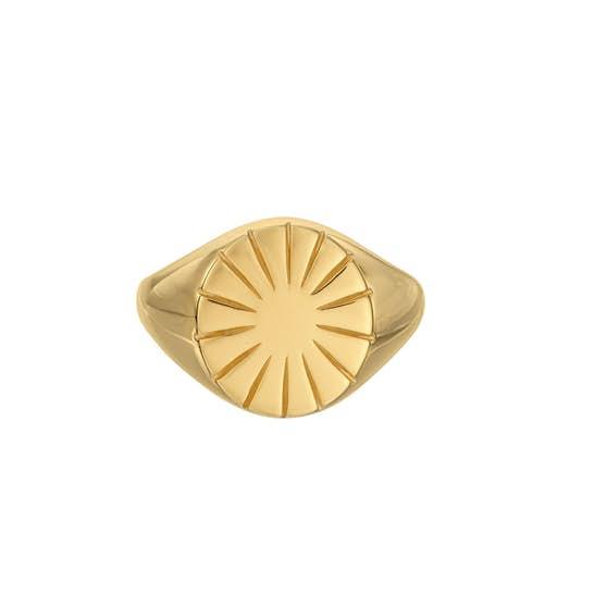 Era Signet Ring fra Pernille Corydon i Forgyldt-Sølv Sterling 925