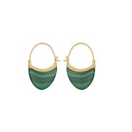 Small Malachite earrings