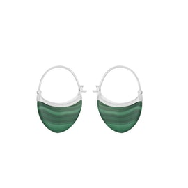 Small Malachite earrings