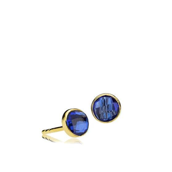 Prima Donna earsticks Royal Blue fra Izabel Camille i Forgyldt-Sølv Sterling 925