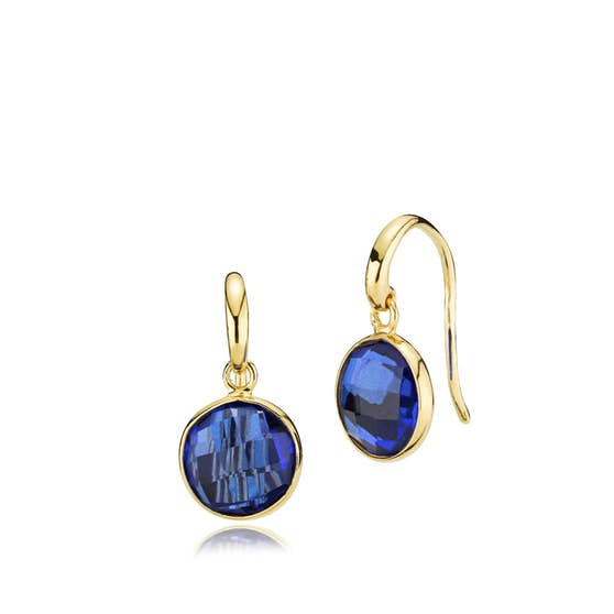 Prima Donna earrings Royal Blue from Izabel Camille in Goldplated-Silver Sterling 925