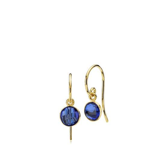 Prima Donna earrings small Royal Blue von Izabel Camille in Vergoldet-Silber Sterling 925