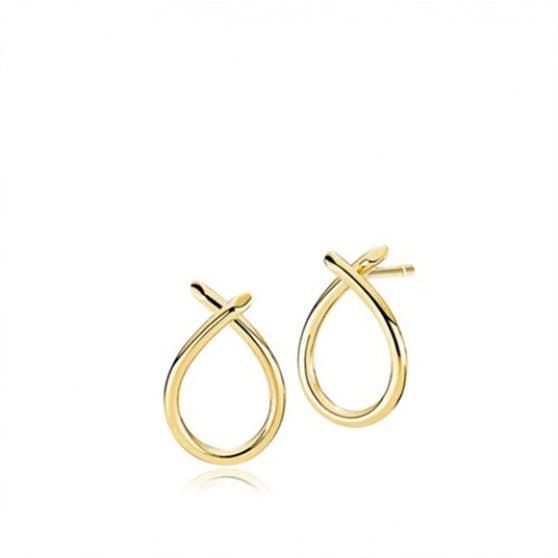 Everyday Medium earrings fra Izabel Camille i Guld