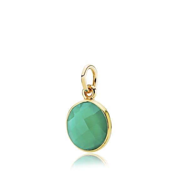 Prima Donna pendant Green Onyx von Izabel Camille in Vergoldet-Silber Sterling 925