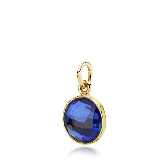 Prima Donna pendant Royal Blue von Izabel Camille in Vergoldet-Silber Sterling 925