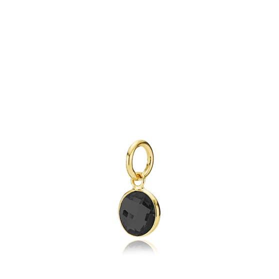 Prima Donna small pendant Black von Izabel Camille in Vergoldet-Silber Sterling 925