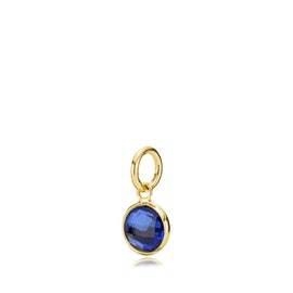 Prima Donna small pendant Royal Blue from Izabel Camille in Goldplated-Silver Sterling 925