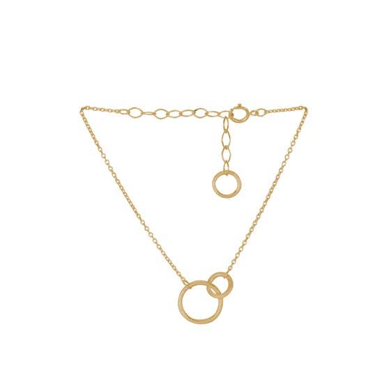 Double bracelet von Pernille Corydon in Vergoldet-Silber Sterling 925| Matt,Blank