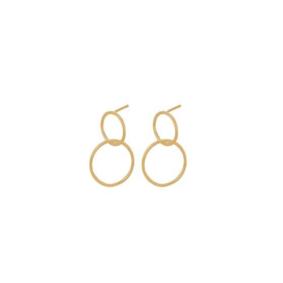Double earrings från Pernille Corydon i Förgyllt-Silver Sterling 925