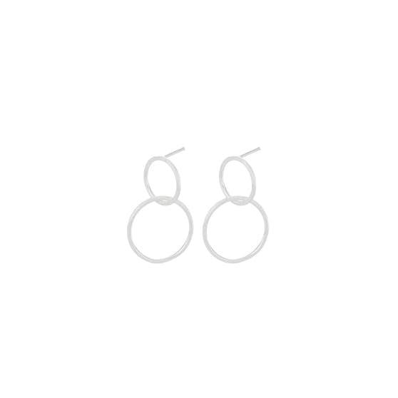 Double earrings from Pernille Corydon in Silver Sterling 925