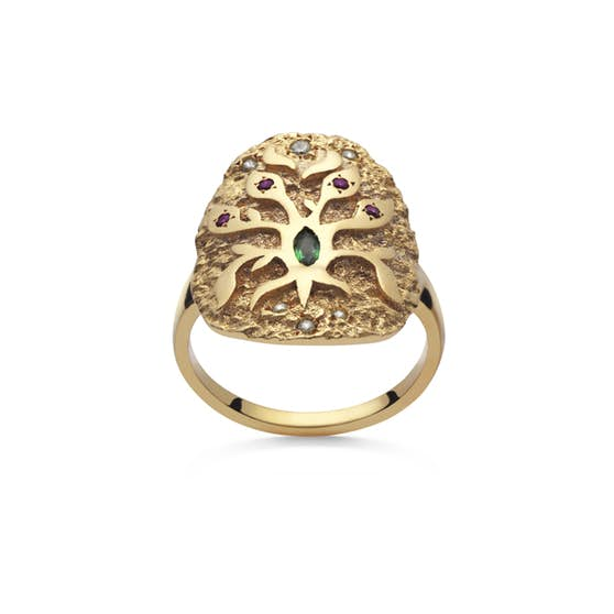 Roots ring von Maanesten in Vergoldet-Silber Sterling 925|Blank