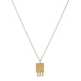 Spire Blank necklace von Maanesten in Vergoldet-Silber Sterling 925| Matt,Blank