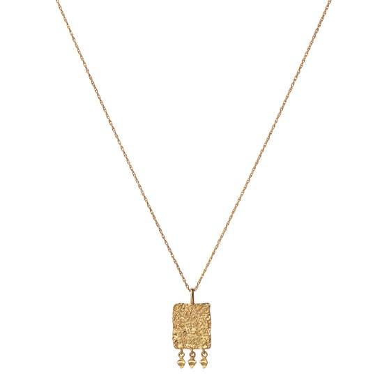 Spire Blank necklace von Maanesten in Vergoldet-Silber Sterling 925  Matt,Blank