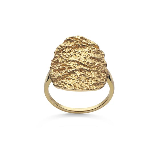 Rio Ring von Maanesten in Vergoldet-Silber Sterling 925|Blank