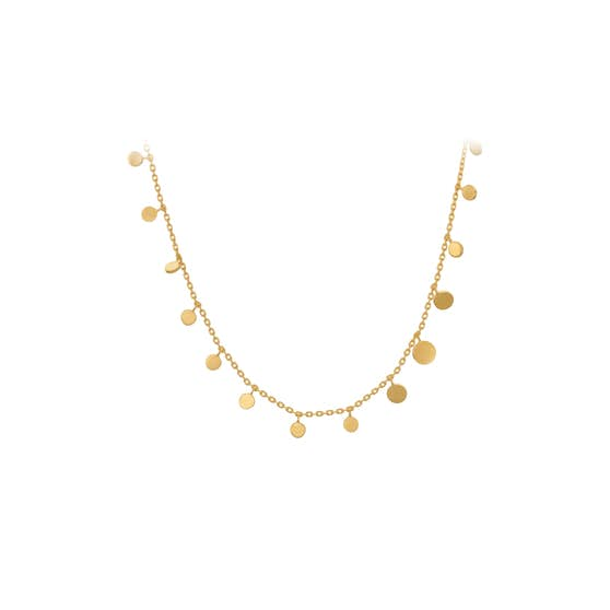 Sheen necklace von Pernille Corydon in Vergoldet-Silber Sterling 925