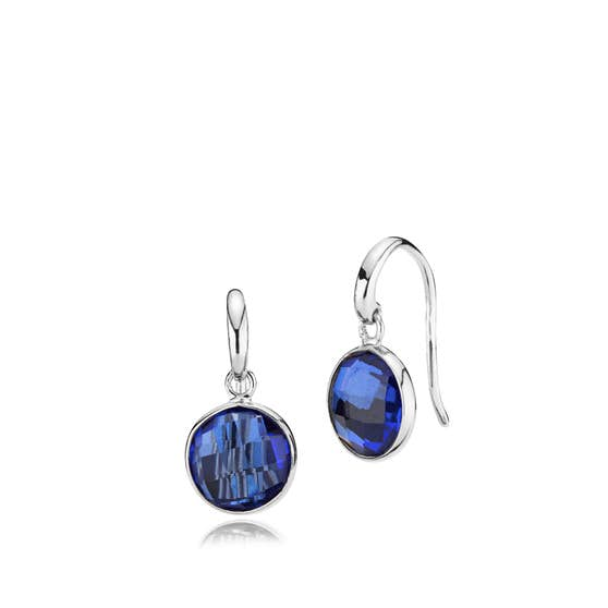 Prima Donna earrings Royal Blue from Izabel Camille in Silver Sterling 925