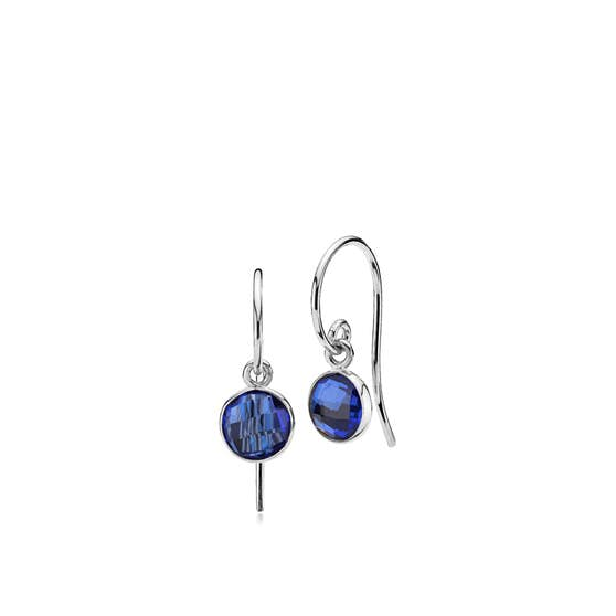 Prima Donna earrings small Royal Blue von Izabel Camille in Silber Sterling 925