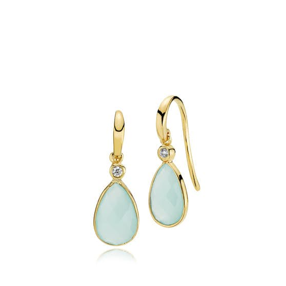 Imperial earrings Aqua CL from Izabel Camille in Goldplated-Silver Sterling 925
