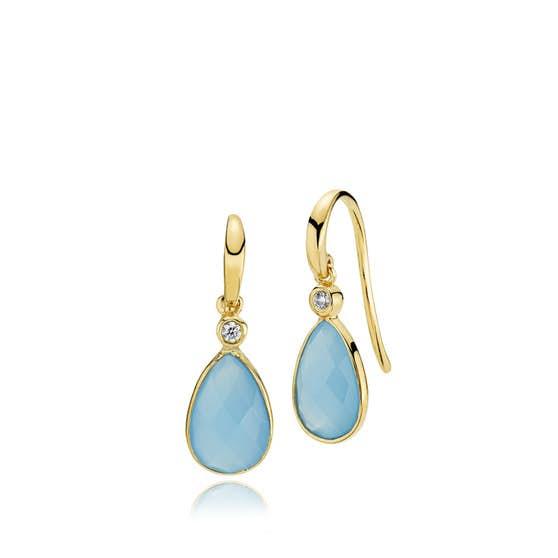 Imperial earrings Dark Blue CL fra Izabel Camille i Forgylt-Sølv Sterling 925