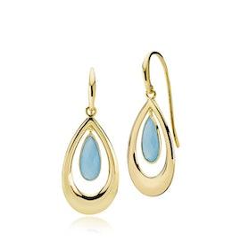 Imperial earrings big Dark Blue CL