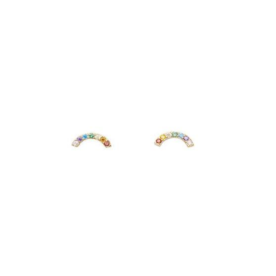 Rainbow studs petite von Pico in Vergoldet-Silber Sterling 925