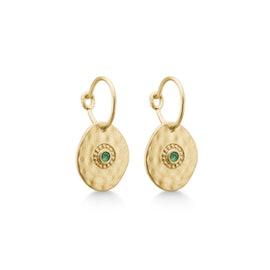 Esma earrings Green Agate